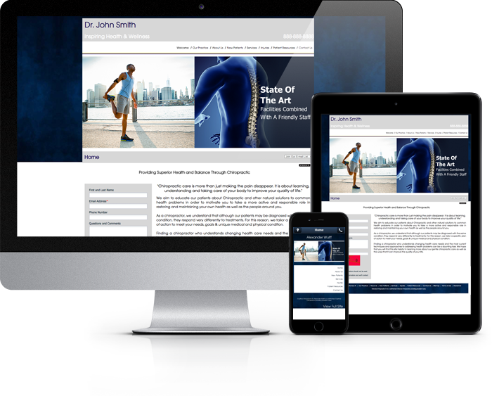 Chiropractor Website Sample Work 1