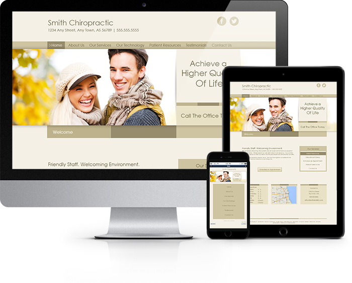 Chiropractor Website Sample Work 2