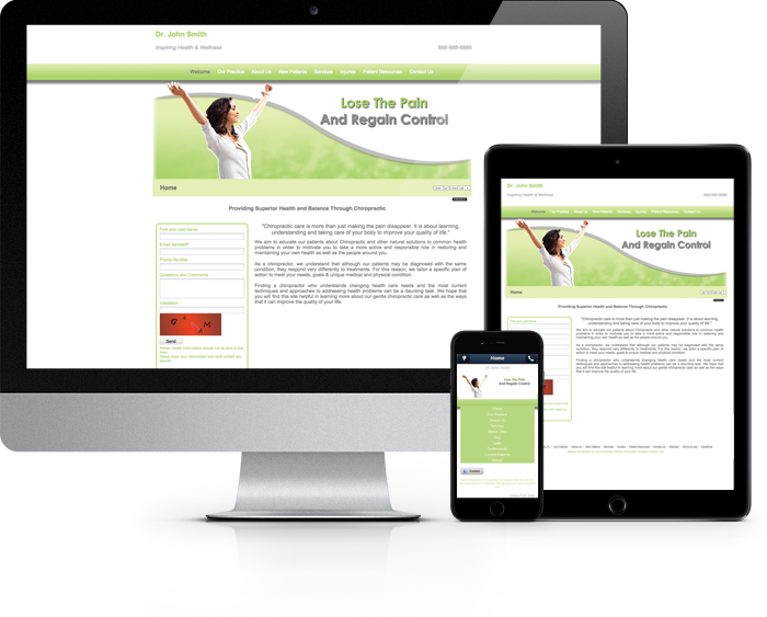 Chiropractor Website Sample Work 3