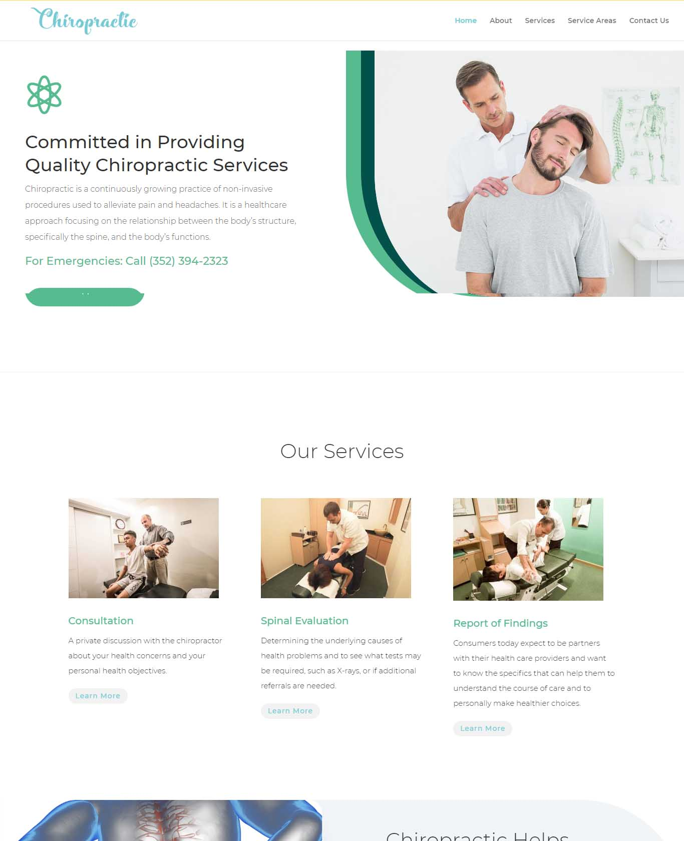 Chiropractic Services Website